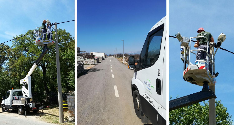 Radovi na uličnoj rasvjeti - otok Krk