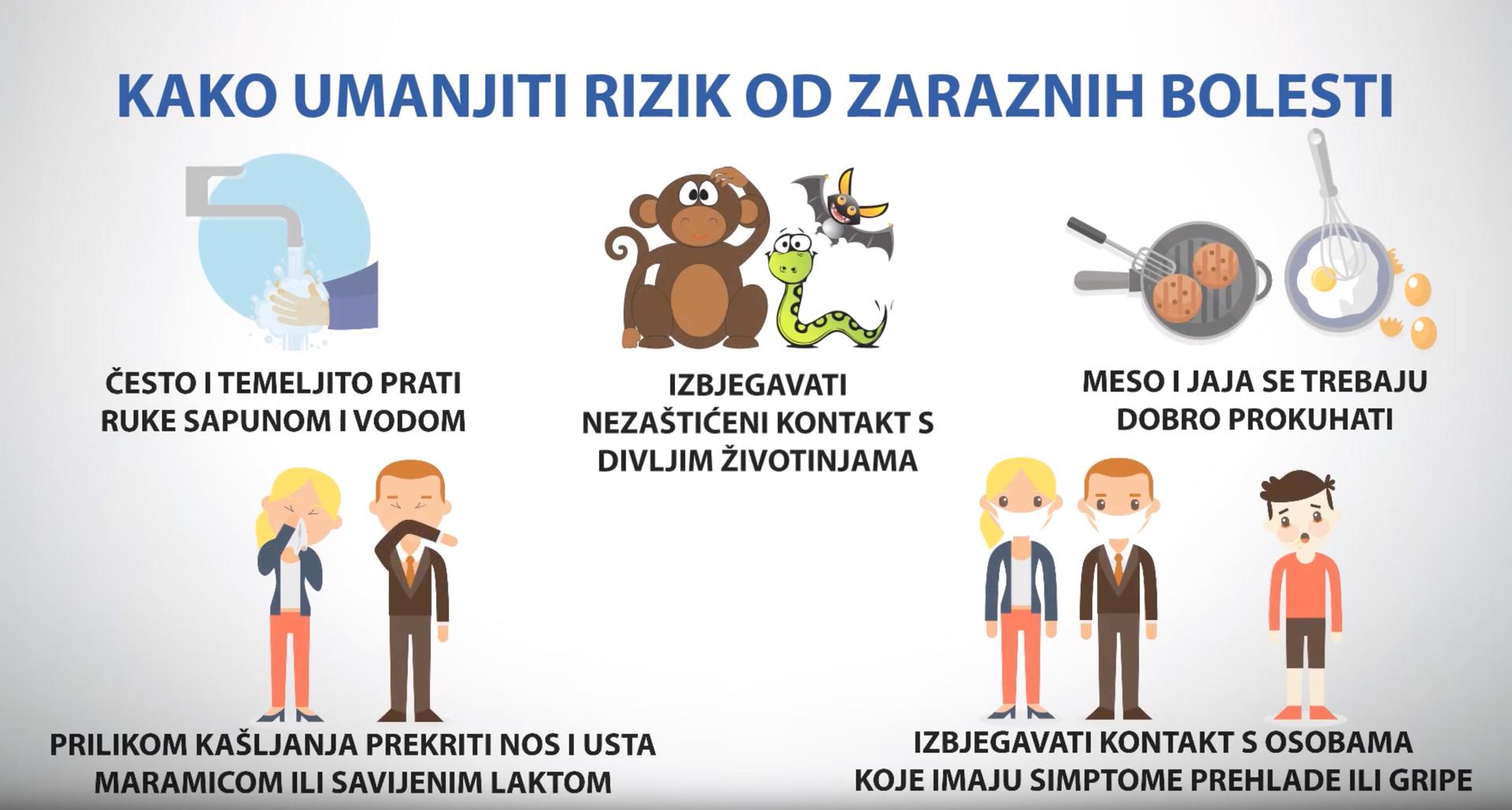 kako umanjiti rizik od zaraznih bolesti